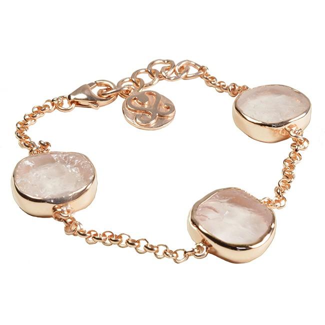 Tallulah Bracelet Rose Quartz Rose Gold