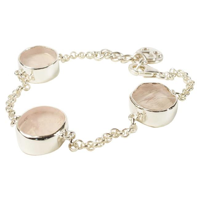Tallulah Bracelet Silver Rose Quartz