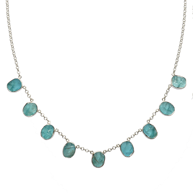 Tallulah Collar Apatite Silver