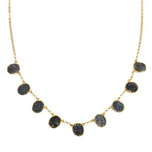 Tallulah Collar Black Drusy