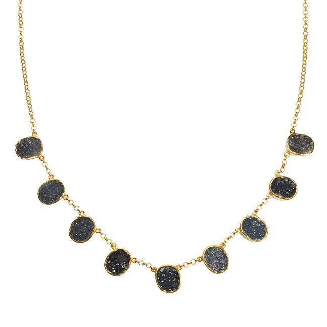 Tallulah Collar Black Drusy