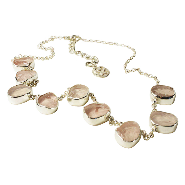 Tallulah Collar Silver Rose Quartz