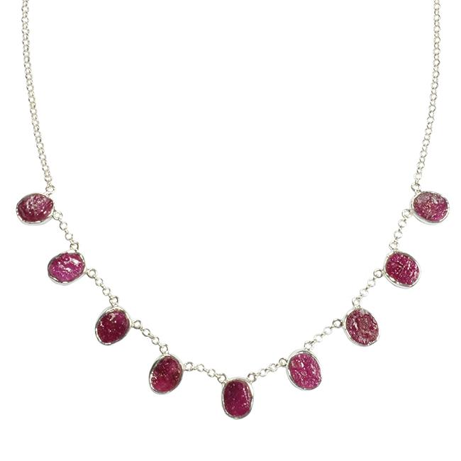 Tallulah Collar Ruby Silver