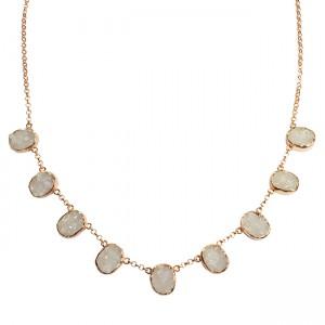 Tallulah Collar White Drusy Rose Gold
