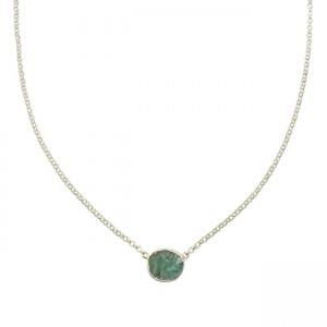 Tallulah Drop Necklace Apatite Silver