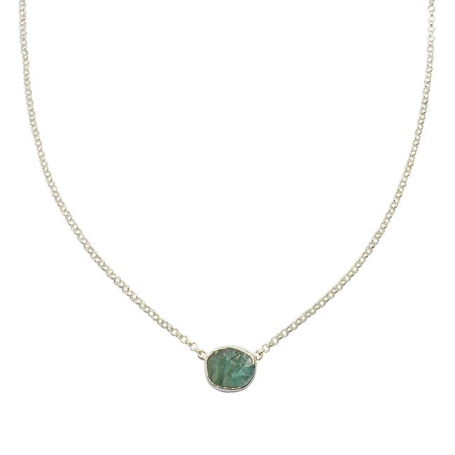 Tallulah Drop Necklace Apatite Silver
