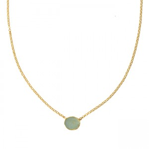 Tallulah Drop Necklace Aquamarine