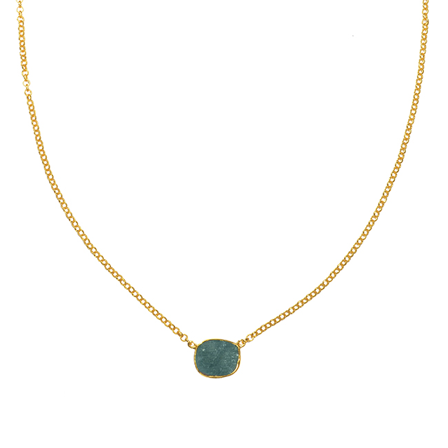 Tallulah Drop Necklace Labradorite
