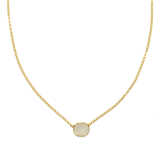 Tallulah Drop Necklace Moonstone