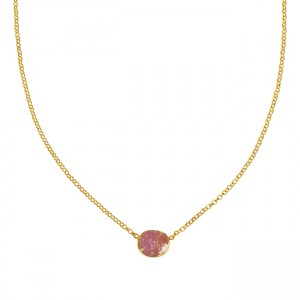Tallulah Drop Necklace Pink Sapphire