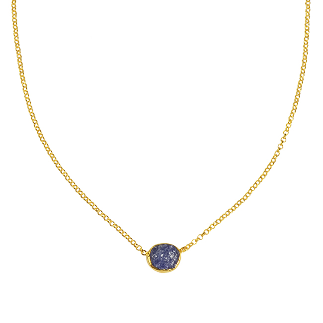 Tallulah Drop Necklace Tanzanite