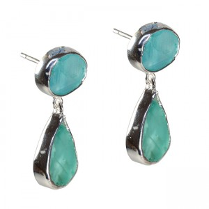 Tallulah Earrings Apatite Silver