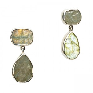 Tallulah Earrings Silver Labradorite