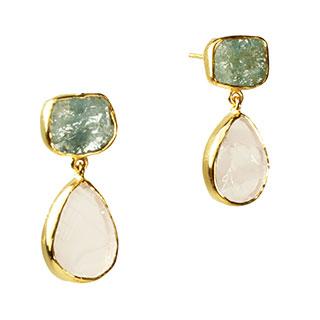 Tallulah Earrings Aquamarine Morganite