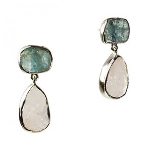 Tallulah Earrings Morganite Aquamarine Silver