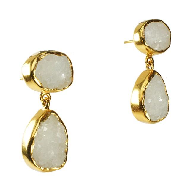 Tallulah Earrings White Drusy