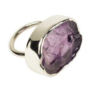 Tallulah Cocktail Ring Amethyst Silver