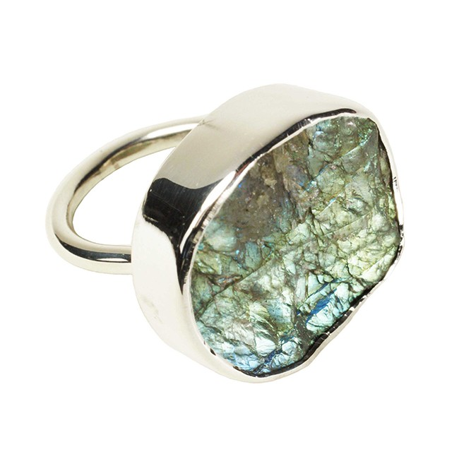 Tallulah Cocktail Ring Labradorite Silver