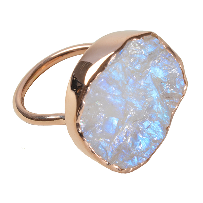 Tallulah Ring Moonstone Rose Gold