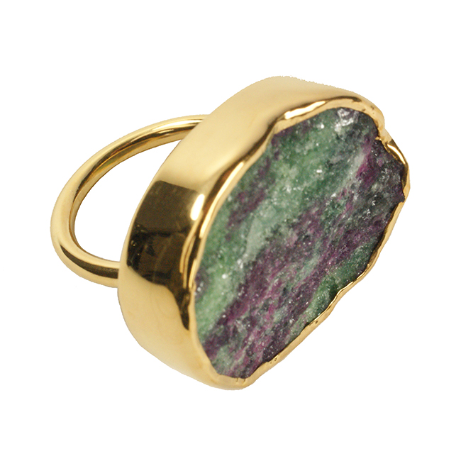 Tallulah Cocktail Ring Ruby Zoisite