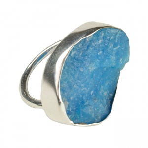 Tallulah Cocktail Ring Silver Smithsonite