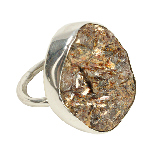 Tallulah Cocktail Ring Star Leaf Silver