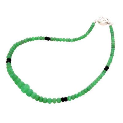 chrysoprase black spinel necklace sofia