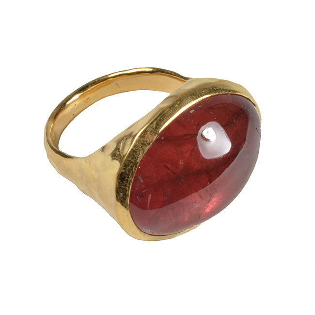 Calypso Ring Strawberry Tourmaline