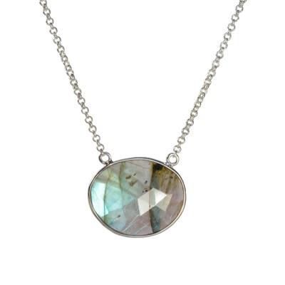 Talitha Necklace Labradorite Silver