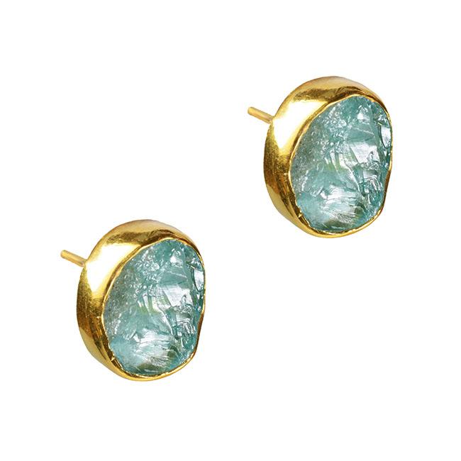 Tallulah Stud Earrings Apatite