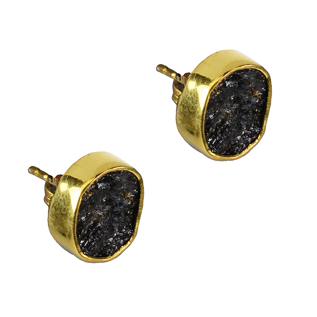 49626a4b9 Tallulah Stud earrings Black Tourmaline