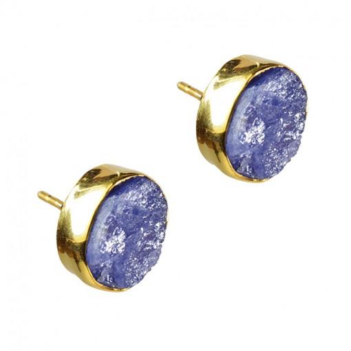 Tallulah Stud Earrings Tanzanite