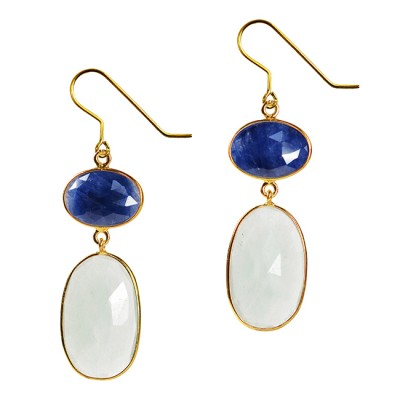 Talitha Earrings Blue Sapphire Aquamarine