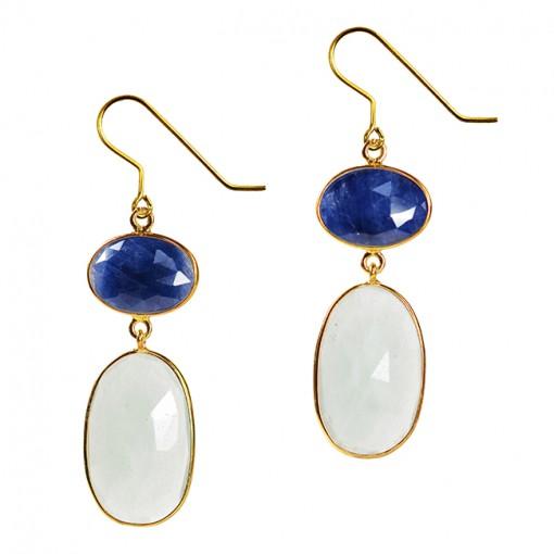 Talitha Earrings Blue Sapphire Aquamarine