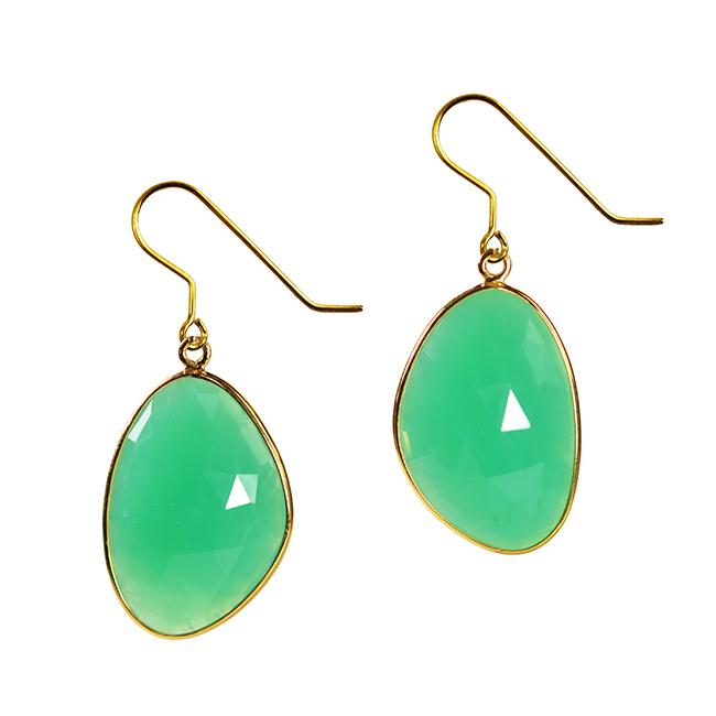 Talitha Earrings Chrysoprase