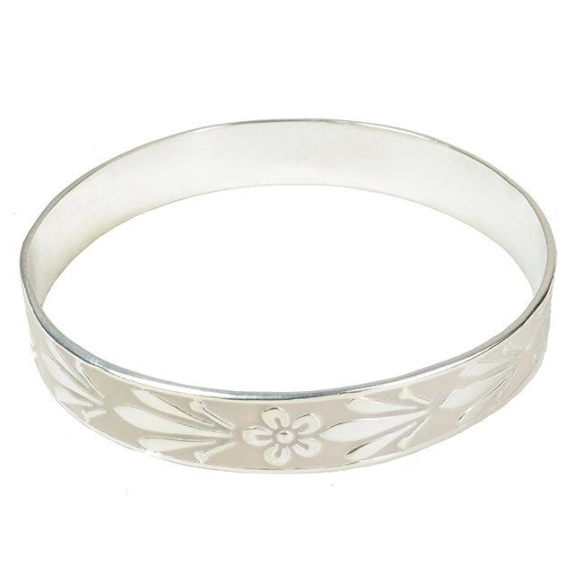 Joy Enamel Bangle Ivory