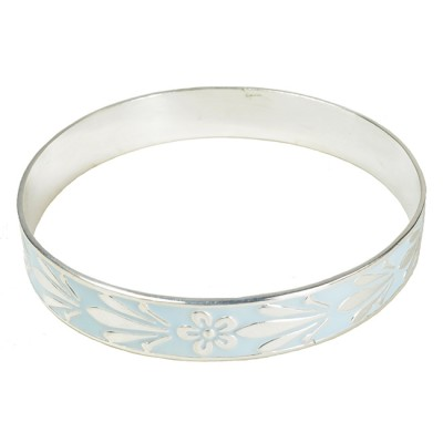 Joy Enamel Bangle in Powder Blue