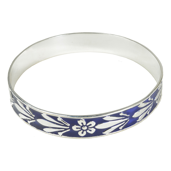 Joy Enamel Bangle Navy