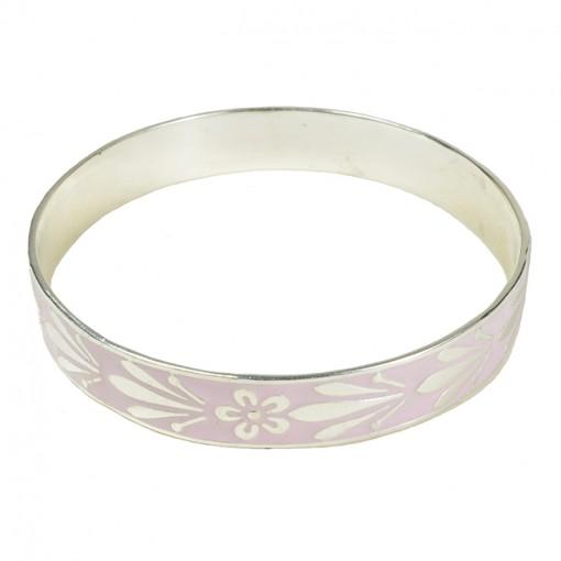 Joy Enamel Bangle Pale Pink