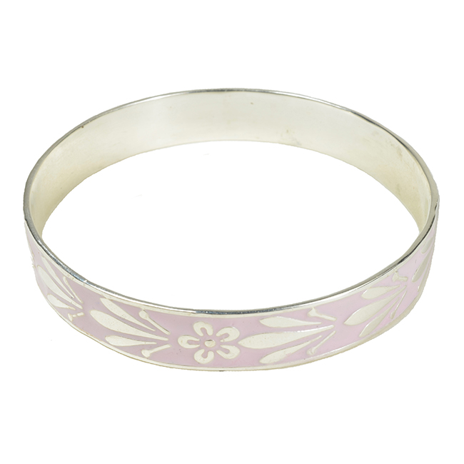 Joy Enamel Bangle Pale Pink