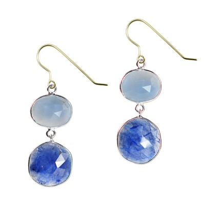 Talitha Earrings Blue Opal Sapphire