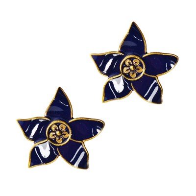 eloise-gold-stud-flower-earrings-navy
