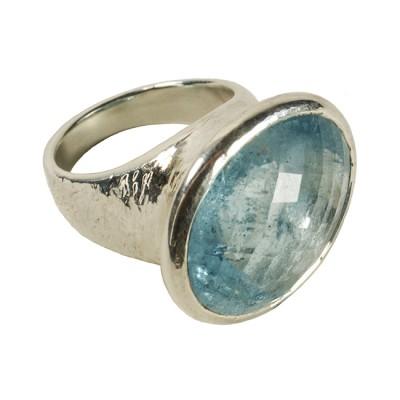 calypso ring aquamarine silver