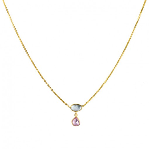 Gold-Necklace-Blue-Pink-Sapphire