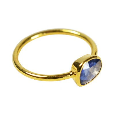 Gold Ring Blue Sapphire