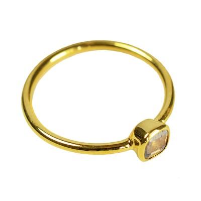Gold Ring Chocolate Diamond