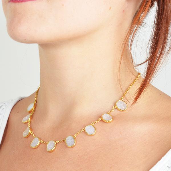 Tallulah Collar White Drusy
