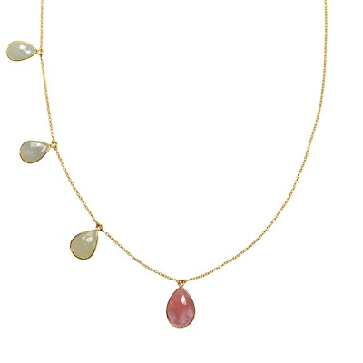 Talitha Necklace Aquamarine Pink Sapphire