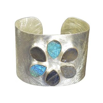 Tallulah Cuff Labradorite Silver