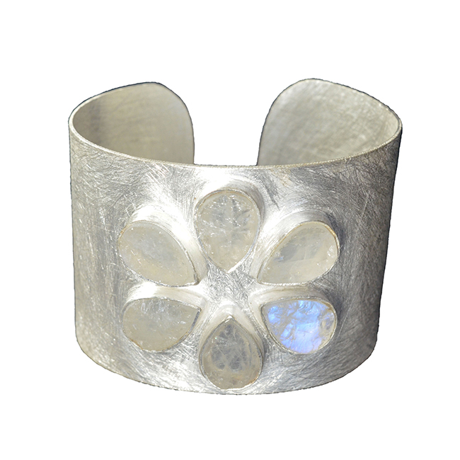Tallulah Cuff Moonstone Silver